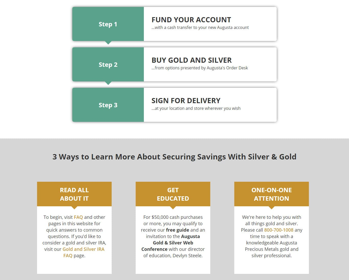 Purchasing Gold and Silver for Personal Investment