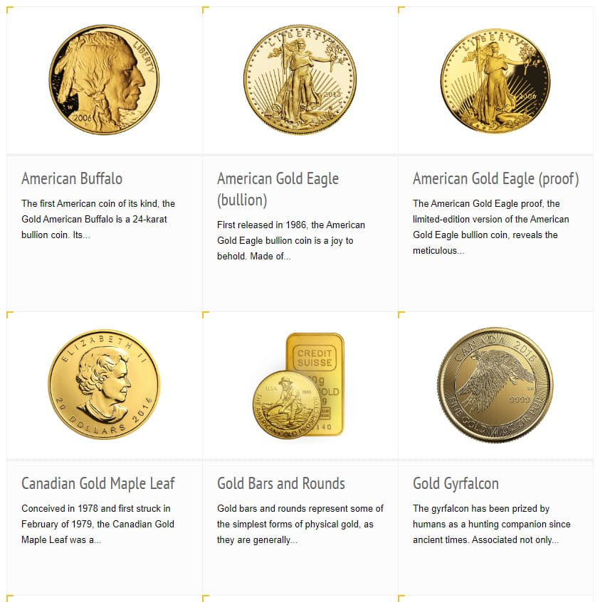 IRA-Approved Coins and Bars Gold
