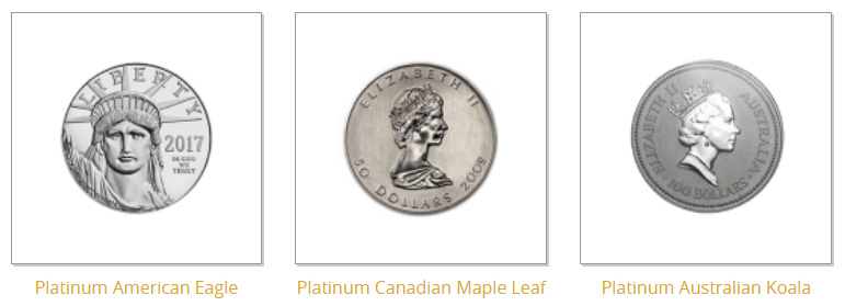 IRA-Approved Coins and Bars - Platinum